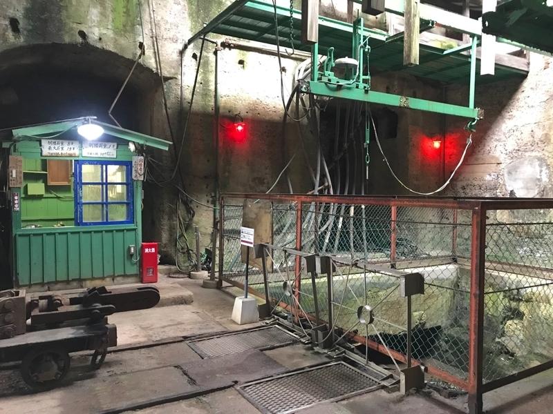 世界遺産 万田坑跡のメインエレベーター