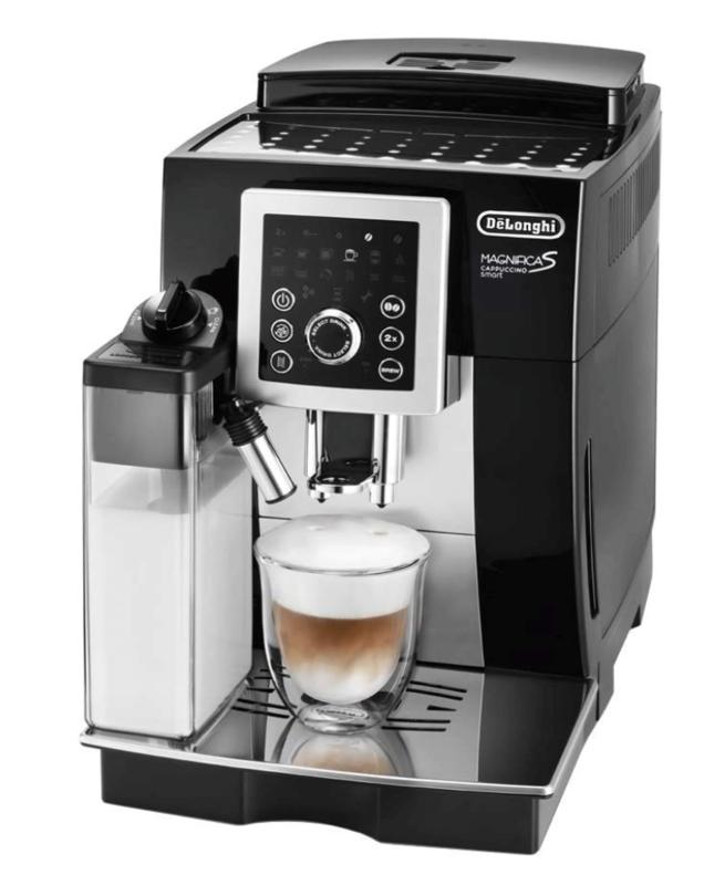 エスプレッソメーカー:デロンギ コンパクト全自動コーヒーマシン マグニフィカ S カプチーノ スマート ブラック ECAM23260SBN