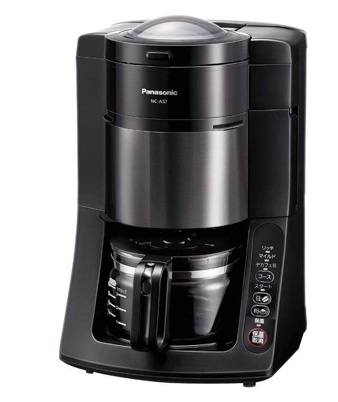 ドリップ式:パナソニック 沸騰浄水コーヒーメーカー 全自動タイプ NC-A57