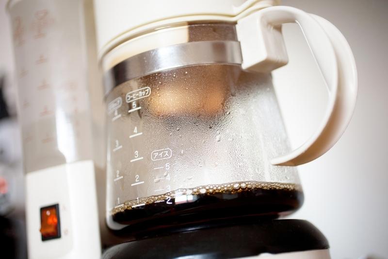 コーヒーメーカーのドリップ部分