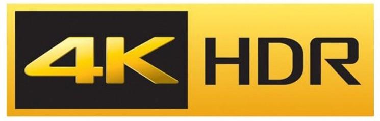 4Kテレビの4K HDRのロゴ画像