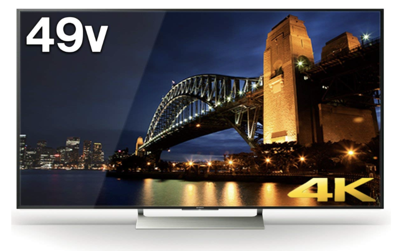 SONY 49V型 ブラビア KJ-49X9000E 4K Android TV 外付けHDD録画