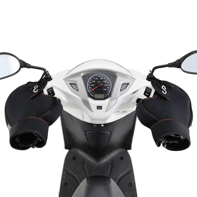バイク用ハンドルカバーの愛車への取り付け例