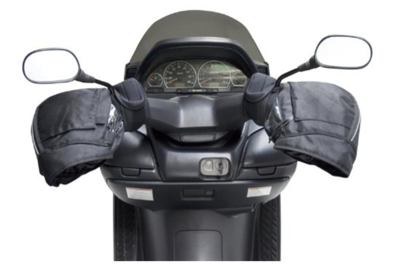 高い防水性能「ユニカー 防寒 防水ハンドルカバー ブラック 汎用 BS-006」
