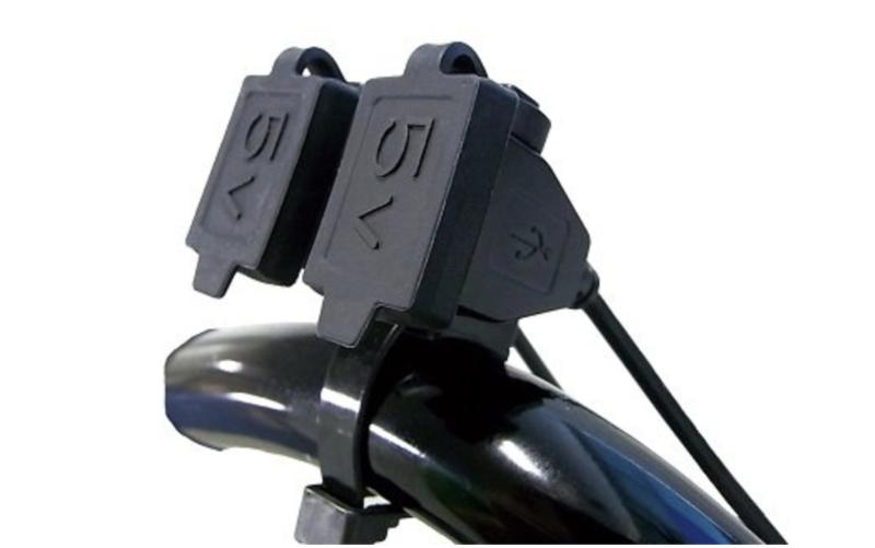 ニューイング バイク用電源 USBステーション ダブル2 USB端子2口タイプ
