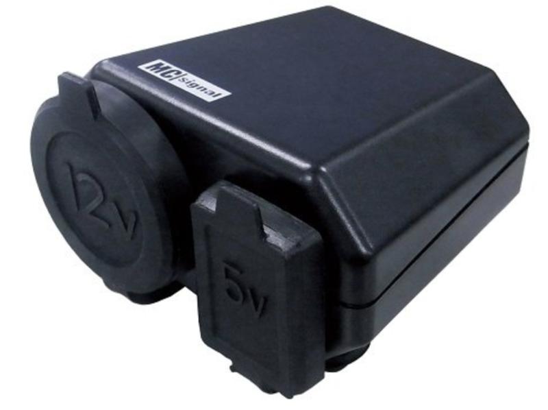 ニューイングバイク用電源 DCステーション プラス2 シガーソケット+USB端子タイプ