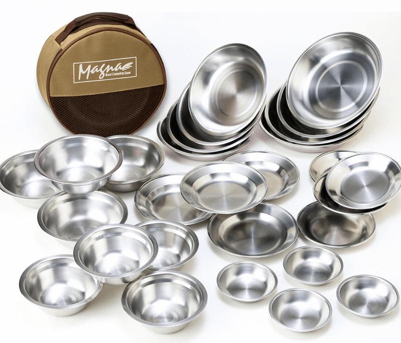 MAGNAステンレス食器セット 7種 たっぷり28枚 ファミリーセット