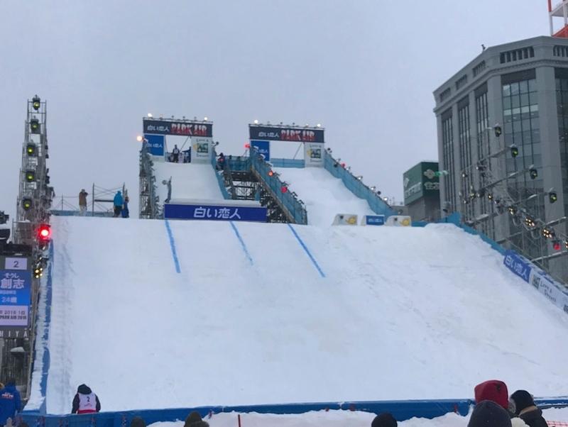 さっぽろ雪まつりのスキージャンプ会場