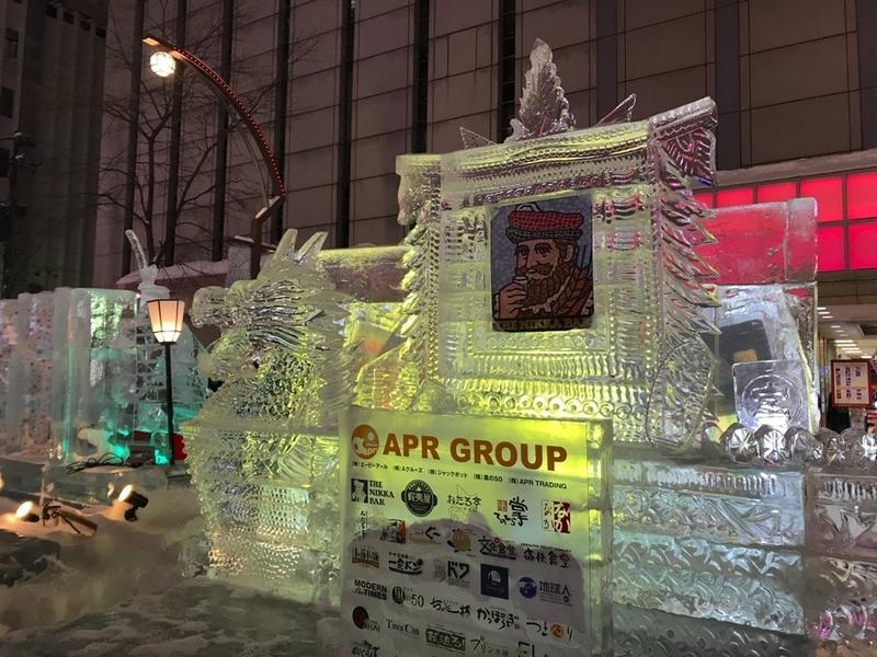 さっぽろ雪まつりのすすきの会場の展示物