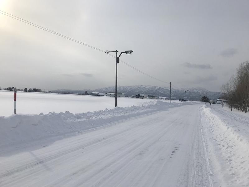 北海道砂川市の雪景色