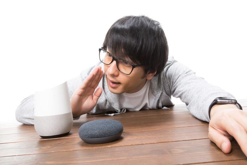 スマートスピーカーの音声認識能力の高さのイメージ