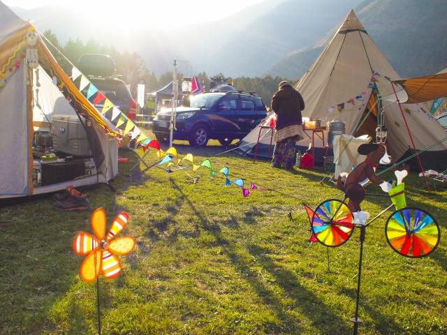 おしゃれなデザインのテントの例