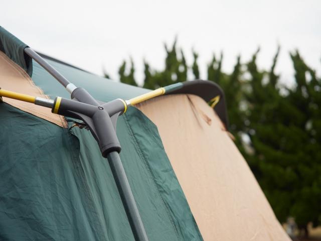 テントの設営方法のイメージ