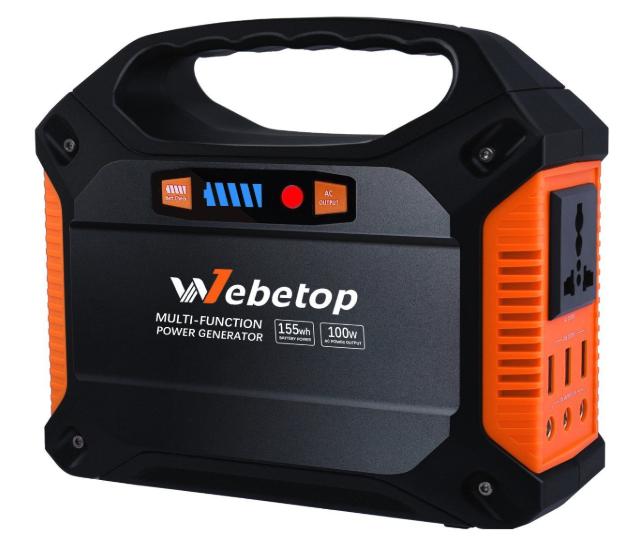 バッテリー容量155Wh:Webetop 155Whポータブル
