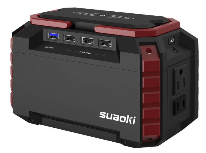 バッテリー容量150Wh:suaoki ポータブル電源 S270