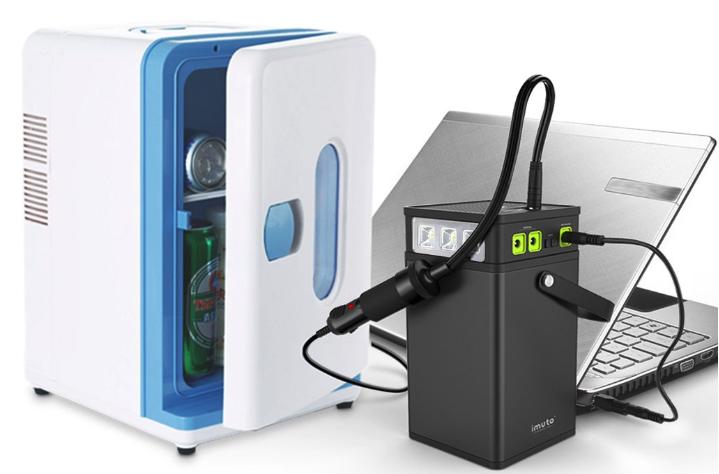 ポータブル電源で家電とガジェットを動かすイメージ