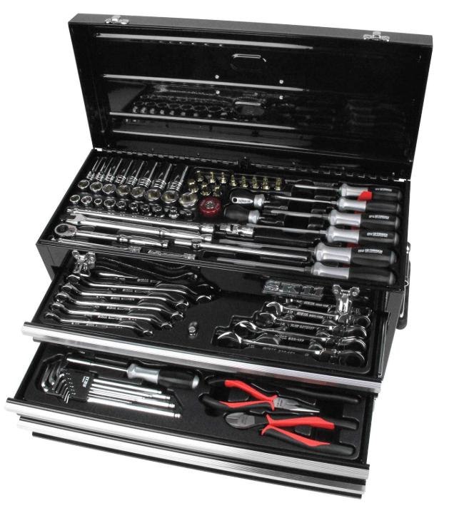 SK11 整備工具セット 133点組 ブラック SST-16133BK