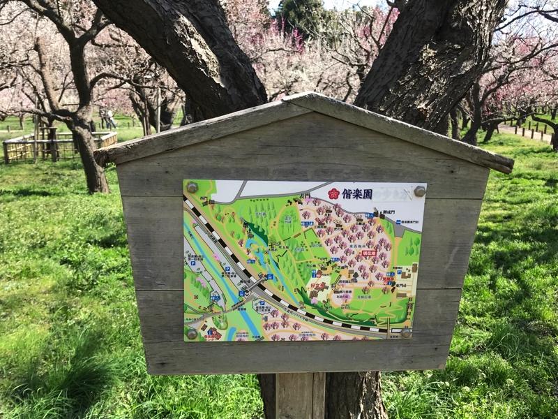 偕楽園の園内案内マップ