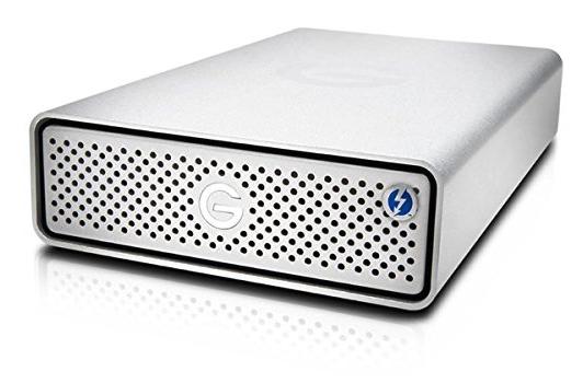 据え置き型:HGST 外付HDD 4TB G-DRIVE Thunderbolt 3
