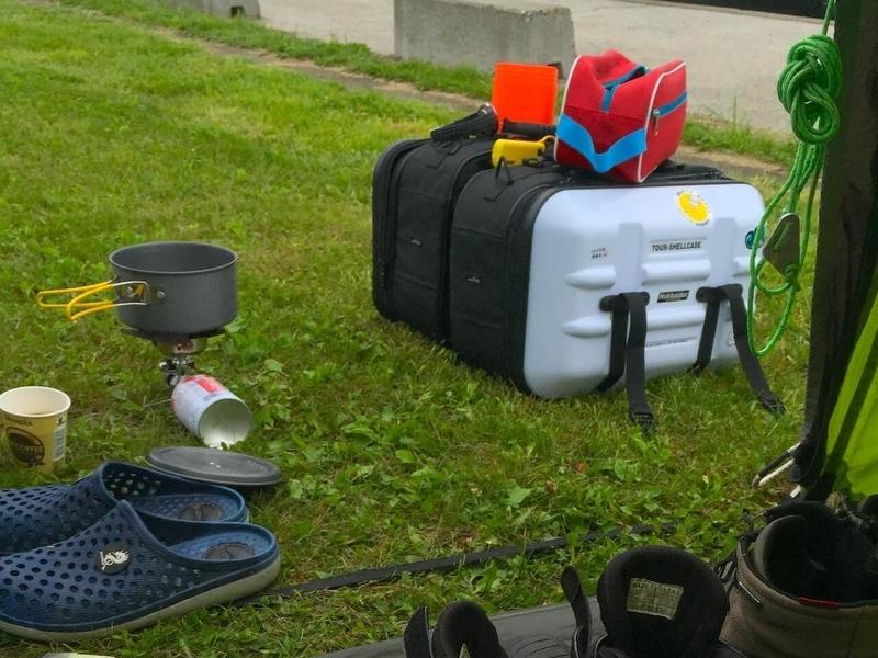 サイドバッグ の容量をチェック(キャンプ用品を詰める)