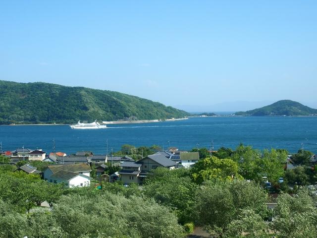 小豆島の海が見える景色