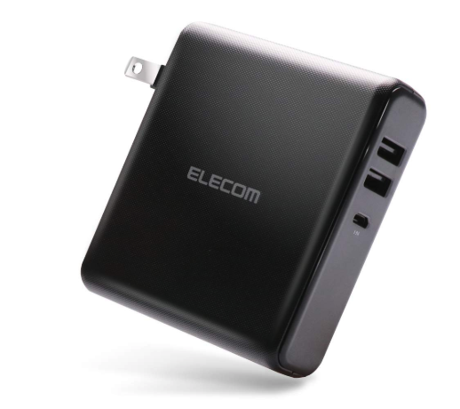 エレコム モバイルバッテリー 大容量 コンセント 6700mAh 2ポート 2.6A出力