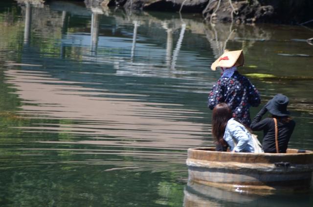 たらい舟が楽しめる「矢島体験交流館」