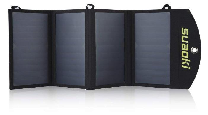 suaoki 25wソーラーチャージャー 変換効率25% ソーラーパネル4枚搭載