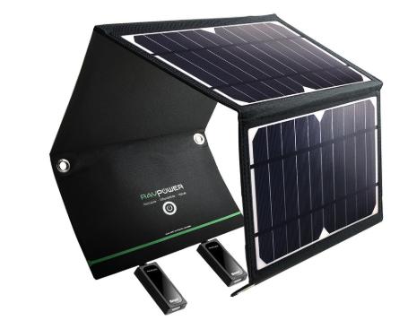 RAVPower ソーラーチャージャー ソーラー充電器 16W 2ポート RP-PC008