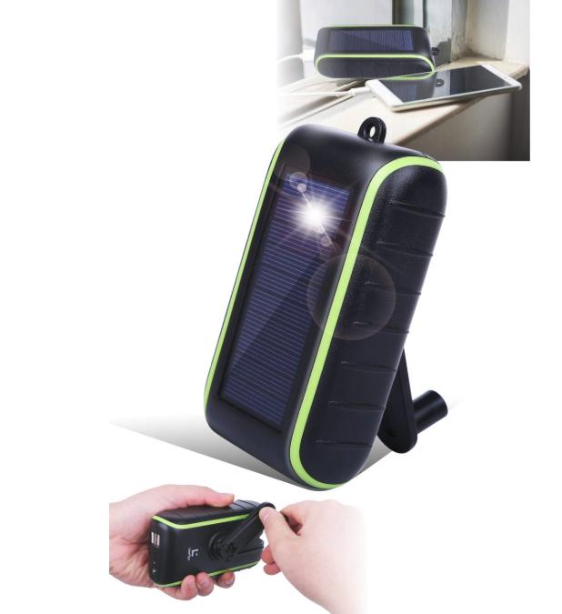 LiberFlyer Chargi-Q mini ソーラーチャージャー モバイルバッテリー 手回し充電器