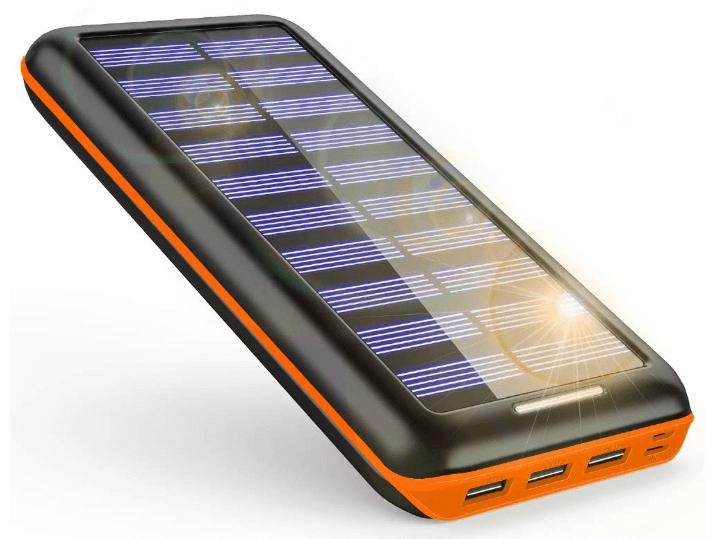KEDRON モバイルバッテリー ソーラーチャージャー 24000mAh ソーラー充電器