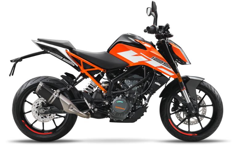 近未来的スタイルの125ccスポーツバイク「KTM 125DUKE」