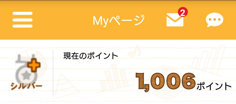 2020年12月1日に累計1000Pを達成