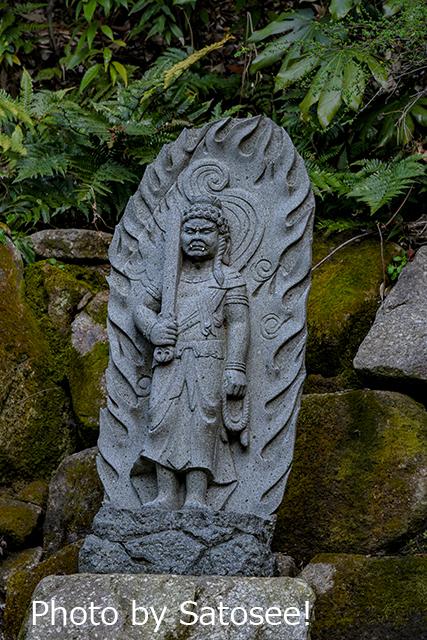 石仏の写真 お不動様の写真
