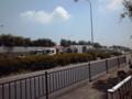 埼玉県でたぶん唯一の高速道路上にあるバス停。川越的場に来ました。