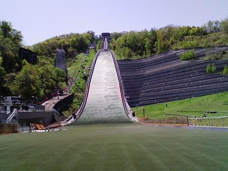 ジャンプ台(下から)@大倉山