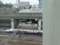 高架橋の下を走る新幹線