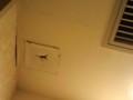 ビジネスホテルの天井