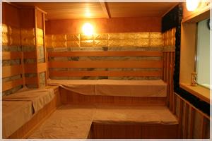 アダムアンドイブのサウナ室