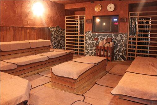 ユーランド鶴見のサウナ室
