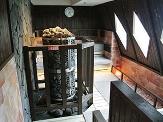 マルシンスパのサウナ室