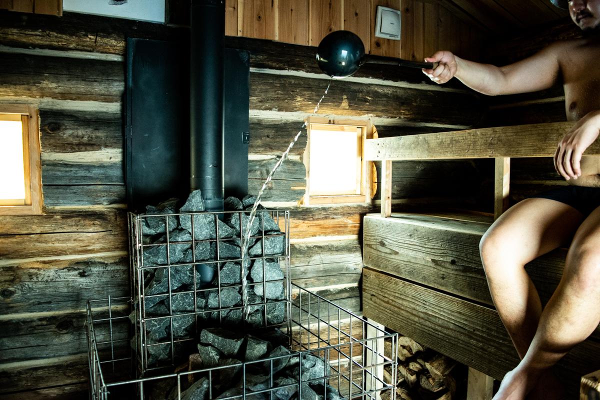 The Saunaのサウナ室の画像
