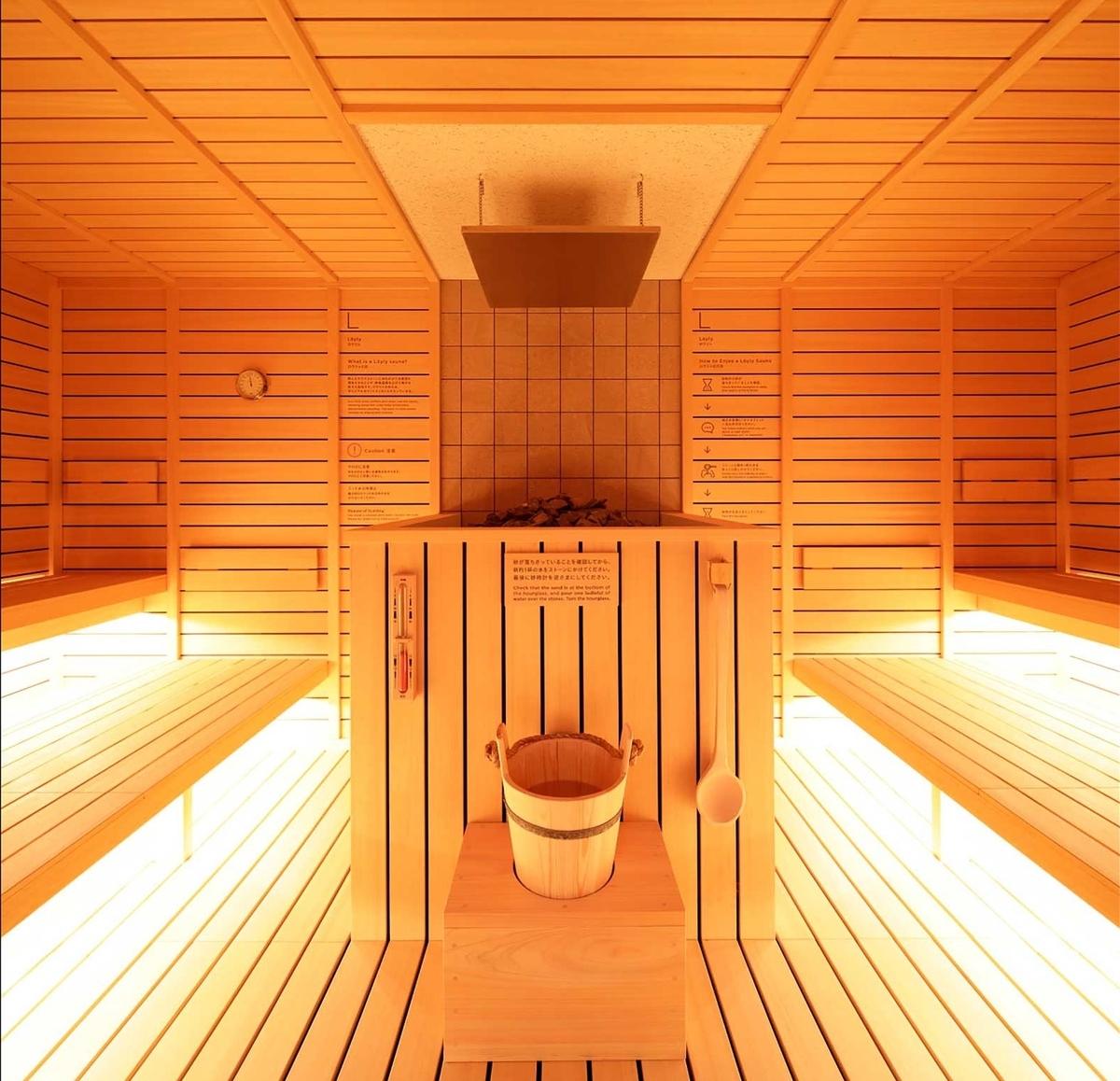恵比寿ドシーのサウナ室の画像