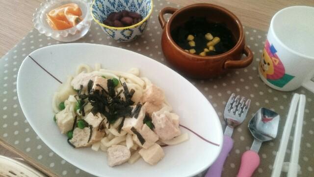 厚揚げ豆腐と鶏肉のダシ味うどん