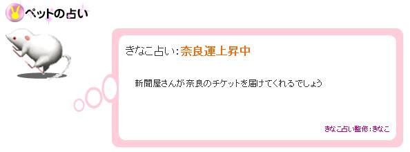 きなこ占い 2007.10.21