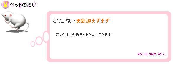 きなこ占い 2007.10.29