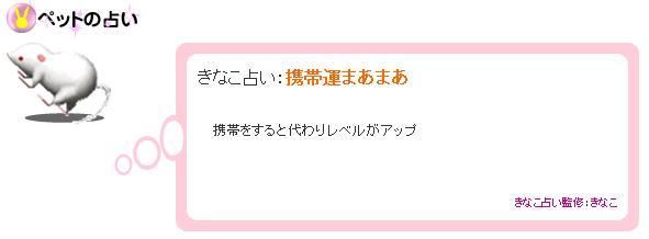 きなこ占い 2007.10.31