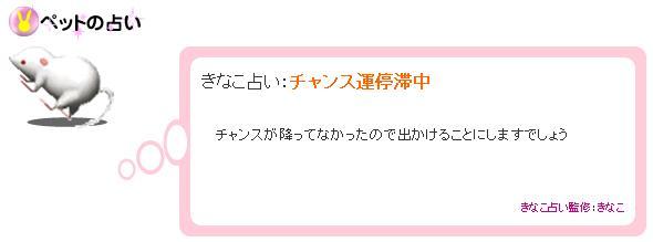 きなこ占い 2007.11.7