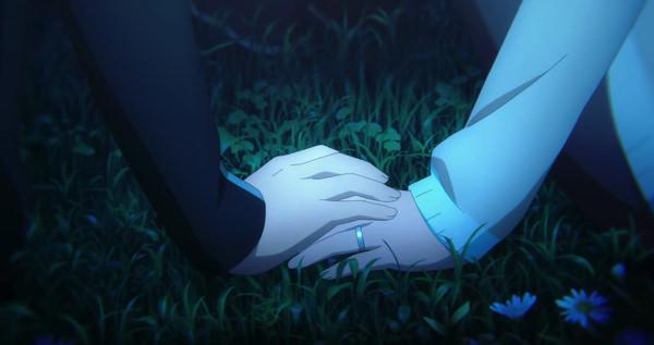キリトとアスナの手