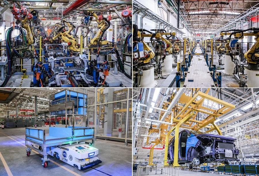 上汽大通の南京工場の生産イメージ